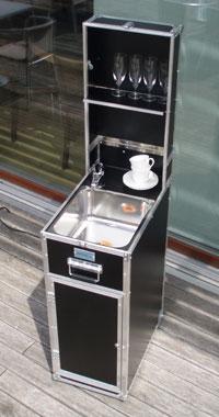 unabh ngige mobile sp le mobiles handwaschbecken f r bar verkaufsstand oder messestand. Black Bedroom Furniture Sets. Home Design Ideas