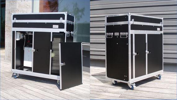 Mobile kofferkuche fur den messeeinsatz kitchencase for Kofferküche