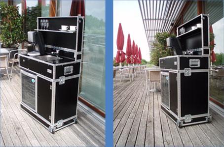Kofferküche für Transport im Pkw auch als Mietküche